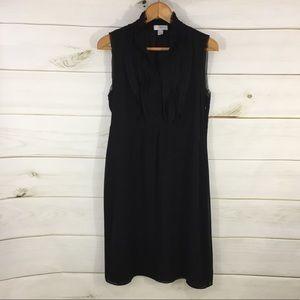 LOFT Black Shift Midi Dress LBD, Sz. 8